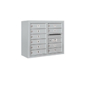 Salsbury Industries 3806D-10AFU Surface Mounted 4C Horizontal Mailbox Unit - 6 Door High Unit (24-5/8 Inches) - Double Column - 10 MB1 Doors - Aluminum - Front Loading - USPS Access