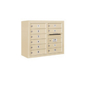 Salsbury Industries 3806D-10SFU Surface Mounted 4C Horizontal Mailbox Unit - 6 Door High Unit (24-5/8 Inches) - Double Column - 10 MB1 Doors - Sandstone - Front Loading - USPS Access