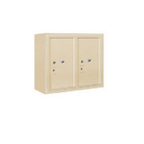 Salsbury Industries 3806D-2PSFU Surface Mounted 4C Horizontal Mailbox Unit-6 Door High Unit (24-5/8 Inches)-Double Column-Stand-Alone Parcel Locker-2 PL6's-Sandstone-Front Loading-USPS Access
