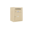 Salsbury Industries 3806S-01SFU Surface Mounted 4C Horizontal Mailbox Unit - 6 Door High Unit (24-5/8 Inches) - Single Column - 1 MB4 Door - Sandstone - Front Loading - USPS Access