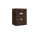 Salsbury Industries 3806S-01ZFU Surface Mounted 4C Horizontal Mailbox Unit - 6 Door High Unit (24-5/8 Inches) - Single Column - 1 MB4 Door - Bronze - Front Loading - USPS Access