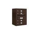 Salsbury Industries 3806S-04ZFP Surface Mounted 4C Horizontal Mailbox Unit - 6 Door High Unit (24-5/8 Inches) - Single Column - 4 MB1 Doors - Bronze - Front Loading - Private Access