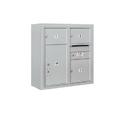 Salsbury Industries 3807D-03AFU Surface Mounted 4C Horizontal Mailbox Unit-7 Door High Unit (28-1/8 Inches)-Double Column-2 MB2 Doors / 1 MB3 Door / 1 PL5-Aluminum-Front Loading-USPS Access