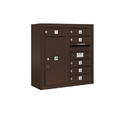Salsbury Industries 3807D-06ZFP Surface Mounted 4C Horizontal Mailbox Unit - 7 Door High Unit (28-1/8 Inches) - Double Column - 6 MB1 Doors / 1 PL6 - Bronze - Front Loading - Private Access