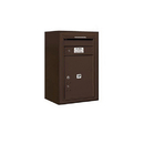 Salsbury Industries 3807S-1PZFU Surface Mounted 4C Horizontal Mailbox Unit-7 Door High Unit(28-1/8 Inches)-Single Column-Stand-Alone Parcel Locker-Bronze-Front Loading