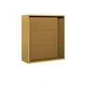Salsbury Industries 3808D-GLD Surface Mounted Enclosure - for 3708 Double Column Unit - Gold