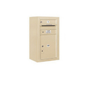 Salsbury Industries 3808S-01SFU Surface Mounted 4C Horizontal Mailbox Unit - 8 Door High Unit (31-5/8 Inches) - Single Column - 1 MB1 Door / 1 PL5 - Sandstone - Front Loading - USPS Access