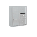 Salsbury Industries 3809D-03AFP Surface Mounted 4C Horizontal Mailbox Unit - 9 Door High Unit (35-1/8 Inches) - Double Column - 3 MB3 Doors / 1 PL6 - Aluminum - Front Loading - Private Access