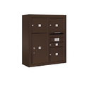 Salsbury Industries 3809D-04ZFP Surface Mounted 4C Horizontal Mailbox Unit-9 Door High Unit (35-1/8 Inches)-Double Column-1 MB1 Door / 3 MB3 Doors / 1 PL6-Bronze-Front Loading-Private Access