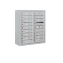 Salsbury Industries 3809D-15AFP Surface Mounted 4C Horizontal Mailbox Unit - 9 Door High Unit (35-1/8 Inches) - Double Column - 15 MB1 Doors - Aluminum - Front Loading - Private Access