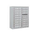 Salsbury Industries 3809D-16AFP Surface Mounted 4C Horizontal Mailbox Unit - 9 Door High Unit (35-1/8 Inches) - Double Column - 16 MB1 Doors - Aluminum - Front Loading - Private Access