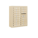 Salsbury Industries 3809D-16SFU Surface Mounted 4C Horizontal Mailbox Unit - 9 Door High Unit (35-1/8 Inches) - Double Column - 16 MB1 Doors - Sandstone - Front Loading - USPS Access