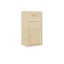 Salsbury Industries 3809S-1CSF Surface Mounted 4C Horizontal Collection Box (Includes 3709S-1CSF and 3809S-SAN Enclosure) - Single Column - Sandstone - Front Access