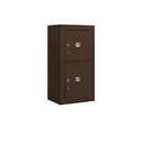 Salsbury Industries 3809S-2PZFP Surface Mounted 4C Horizontal Mailbox Unit-9 Door High Unit (35-1/8 Inches)-Single Column-Stand-Alone Parcel Locker-1 PL4/1 PL5-Bronze-Front Loading-Private Access