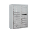 Salsbury Industries 3810D-18AFP Surface Mounted 4C Horizontal Mailbox Unit - 10 Door High Unit (38-5/8 Inches) - Double Column - 18 MB1 Doors - Aluminum - Front Loading - Private Access