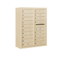 Salsbury Industries 3810D-18SFP Surface Mounted 4C Horizontal Mailbox Unit - 10 Door High Unit (38-5/8 Inches) - Double Column - 18 MB1 Doors - Sandstone - Front Loading - Private Access