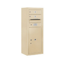Salsbury Industries 3810S-02SFU Surface Mounted 4C Horizontal Mailbox Unit - 10 Door High Unit (38-5/8 Inches) - Single Column - 2 MB1 Doors / 1 PL6 - Sandstone - Front Loading - USPS Access