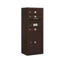 Salsbury Industries 3810S-03ZFP Surface Mounted 4C Horizontal Mailbox Unit - 10 Door High Unit (38-5/8 Inches) - Single Column - 3 MB1 Doors / 1 PL5 - Bronze - Front Loading - Private Access