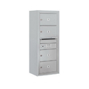 Salsbury Industries 3810S-04AFP Surface Mounted 4C Horizontal Mailbox Unit - 10 Door High Unit (38-5/8 Inches) - Single Column - 4 MB2 Doors - Aluminum - Front Loading - Private Access