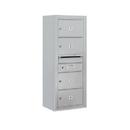 Salsbury Industries 3810S-04AFU Surface Mounted 4C Horizontal Mailbox Unit - 10 Door High Unit (38-5/8 Inches) - Single Column - 4 MB2 Doors - Aluminum - Front Loading - USPS Access