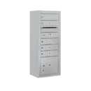 Salsbury Industries 3810S-05AFP Surface Mounted 4C Horizontal Mailbox Unit - 10 Door High Unit (38-5/8 Inches) - Single Column - 5 MB1 Doors / 1 PL3 - Aluminum - Front Loading - Private Access