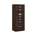 Salsbury Industries 3810S-05ZFU Surface Mounted 4C Horizontal Mailbox Unit - 10 Door High Unit (38-5/8 Inches) - Single Column - 5 MB1 Doors / 1 PL3 - Bronze - Front Loading - USPS Access