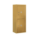 Salsbury Industries 3810S-2PGFP Surface Mounted 4C Horizontal Mailbox Unit - 10 Door High Unit (38-5/8 Inches) - Single Column - 2 PL5's - Gold - Front Loading - Private Access