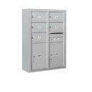Salsbury Industries 3811D-05AFP Surface Mounted 4C Horizontal Mailbox Unit - 11 Door High Unit (42-1/8 Inches) - Double Column - 5 MB2 Doors / 2 PL5's - Aluminum - Front Loading - Private Access