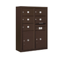 Salsbury Industries 3811D-05ZFP Surface Mounted 4C Horizontal Mailbox Unit - 11 Door High Unit (42-1/8 Inches) - Double Column - 5 MB2 Doors / 2 PL5's - Bronze - Front Loading - Private Access