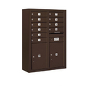 Salsbury Industries 3811D-10ZFU Surface Mounted 4C Horizontal Mailbox Unit - 11 Door High Unit (42-1/8 Inches) - Double Column - 10 MB1 Doors / 2 PL5's - Bronze - Front Loading - USPS Access