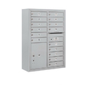 Salsbury Industries 3811D-15AFU Surface Mounted 4C Horizontal Mailbox Unit - 11 Door High Unit (42-1/8 Inches) - Double Column - 15 MB1 Doors / 1 PL5 - Aluminum - Front Loading - USPS Access