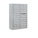 Salsbury Industries 3811D-19AFP Surface Mounted 4C Horizontal Mailbox Unit - 11 Door High Unit (42-1/8 Inches) - Double Column - 19 MB1 Doors - Aluminum - Front Loading - Private Access