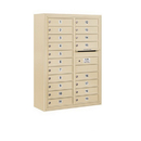 Salsbury Industries 3811D-19SFP Surface Mounted 4C Horizontal Mailbox Unit - 11 Door High Unit (42-1/8 Inches) - Double Column - 19 MB1 Doors - Sandstone - Front Loading - Private Access