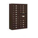 Salsbury Industries 3811D-19ZFP Surface Mounted 4C Horizontal Mailbox Unit - 11 Door High Unit (42-1/8 Inches) - Double Column - 19 MB1 Doors - Bronze - Front Loading - Private Access