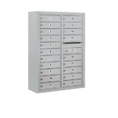 Salsbury Industries 3811D-20AFP Surface Mounted 4C Horizontal Mailbox Unit - 11 Door High Unit (42-1/8 Inches) - Double Column - 20 MB1 Doors - Aluminum - Front Loading - Private Access