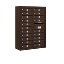 Salsbury Industries 3811D-20ZFP Surface Mounted 4C Horizontal Mailbox Unit - 11 Door High Unit (42-1/8 Inches) - Double Column - 20 MB1 Doors - Bronze - Front Loading - Private Access