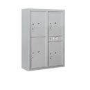 Salsbury Industries 3811D-4PAFP Surface Mounted 4C Horizontal Mailbox Unit-11 Door High Unit(42-1/8 Inches)-Double Column-Stand-Alone Parcel Locker-Aluminum-Front Loading-Private Access
