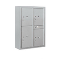 Salsbury Industries 3811D-4PAFU Surface Mounted 4C Horizontal Mailbox Unit-11 Door High Unit(42-1/8 Inches)-Double Column-Stand-Alone Parcel Locker-Aluminum-Front Loading-USPS Access