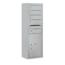Salsbury Industries 3811S-04AFP Surface Mounted 4C Horizontal Mailbox Unit - 11 Door High Unit (42-1/8 Inches) - Single Column - 4 MB 1 Doors / 1 PL5 - Aluminum - Front Loading - Private Access