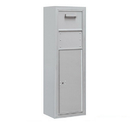 Salsbury Industries 3811S-1CAF Surface Mounted 4C Horizontal Collection Box (Includes 3711S-1CAF and 3811S-ALM Enclosure) - Single Column - Aluminum - Front Access