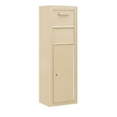 Salsbury Industries 3811S-1CSF Surface Mounted 4C Horizontal Collection Box (Includes 3711S-1CSF and 3811S-SAN Enclosure) - Single Column - Sandstone - Front Access