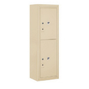 Salsbury Industries 3811S-2PSFU Surface Mounted 4C Horizontal Mailbox Unit-11 Door High Unit(42-1/8 Inches)-Single Column-Stand-Alone Parcel Locker-1 PL5/1 PL6-Sandstone-Front Loading-USPS Access