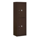 Salsbury Industries 3811S-2PZFU Surface Mounted 4C Horizontal Mailbox Unit-11 Door High Unit (42-1/8 Inches)-Single Column-Stand-Alone Parcel Locker-1 PL5 and 1 PL6-Bronze-Front Loading-USPS Access