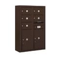 Salsbury Industries 3812D-05ZFP Surface Mounted 4C Horizontal Mailbox Unit - 12 Door High Unit (45-5/8 Inches) - Double Column - 5 MB2 Doors / 2 PL6's - Bronze - Front Loading - Private Access