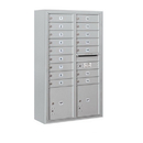Salsbury Industries 3813D-16AFP Surface Mounted 4C Horizontal Mailbox Unit - 13 Door High Unit (49-1/8 Inches) - Double Column - 16 MB1 Doors / 2 PL4's - Aluminum - Front Loading - Private Access