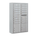 Salsbury Industries 3813D-16AFU Surface Mounted 4C Horizontal Mailbox Unit - 13 Door High Unit (49-1/8 Inches) - Double Column - 16 MB1 Doors / 2 PL4's - Aluminum - Front Loading - USPS Access