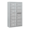 Salsbury Industries 3814D-13AFP Surface Mounted 4C Horizontal Mailbox Unit - 14 Door High Unit (52-5/8 Inches) - Double Column - 13 MB2 Doors - Aluminum - Front Loading - Private Access