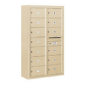 Salsbury Industries 3814D-13SFP Surface Mounted 4C Horizontal Mailbox Unit - 14 Door High Unit (52-5/8 Inches) - Double Column - 13 MB2 Doors - Sandstone - Front Loading - Private Access