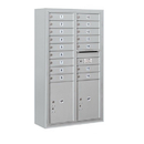 Salsbury Industries 3814D-16AFP Surface Mounted 4C Horizontal Mailbox Unit - 14 Door High Unit (52-5/8 Inches) - Double Column - 16 MB1 Doors / 2 PL5's - Aluminum - Front Loading - Private Access