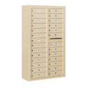 Salsbury Industries 3814D-26SFP Surface Mounted 4C Horizontal Mailbox Unit - 14 Door High Unit (52-5/8 Inches) - Double Column - 26 MB1 Doors - Sandstone - Front Loading - Private Access